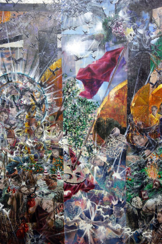 Nachmittag · 600 × 330 cm - Painting by Michael Kunze