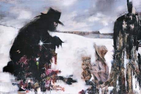 Asche im Schnee/El Topo · Ashes in the Snow/El Topo  - Painting by Michael Kunze
